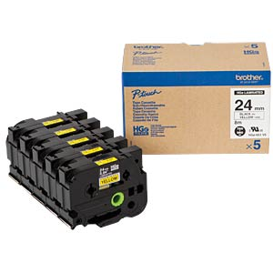 Tape, multipack, black/yellow BROTHER HGE651V5