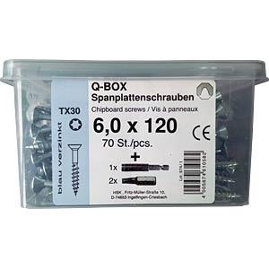 Q200 Plus Spanplattenschrauben-Box TX, TG, 70 St. REISSER SCHRAUBENTECHNIK
