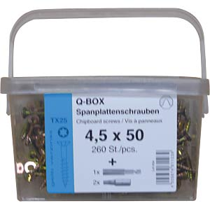 Q200 Plus Spanplattenschrauben-Box TX, TG, 380 St. REISSER SCHRAUBENTECHNIK