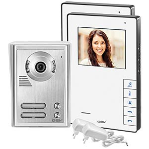 Video door intercom system, two-dwelling building GEV CVB 88337
