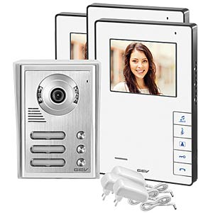 Video door intercom system, three-dwelling building GEV 88467