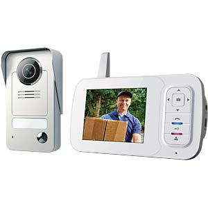 Wireless portable video door intercom system SMARTWARES VD38W