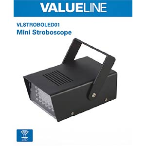 LED-Lichteffekt, Stoboskop VALUELINE VLSTROBOLED01