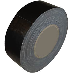 Original reinforced duct tape, black, 50 mm x 50 m FREI