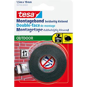 Montageband tesa Powerbond® Outdoor, 1,5m x 19mm TESA 55750-00001-03