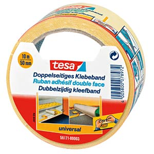 TESA double-sided adhesive tape, 10 m x 50 mm TESA 56171-00003-01