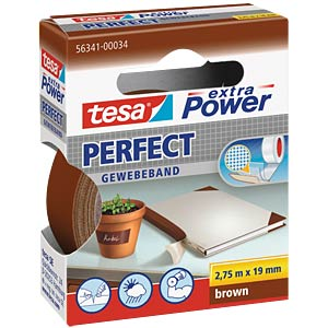 Gewebeband tesa extra Power® Perfect, 2,75 m x 19 mm, braun TESA 56341-00034-03