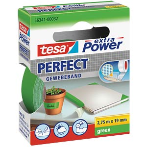 TESA extra Power cloth tape, 19 mm, green TESA 56341-00032-03