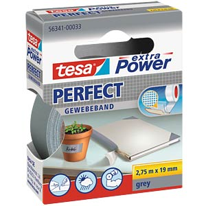 Gewebeband tesa extra Power® Perfect, 2,75 m x 19 mm, grau TESA 56341-00033-03
