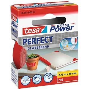 Gewebeband tesa extra Power® Perfect, 2,75 m x 19 mm, rot TESA 56341-00031-03