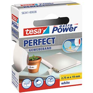Gewebeband tesa extra Power® Perfect, 2,75 m x 19 mm, weiß TESA 56341-00028-03