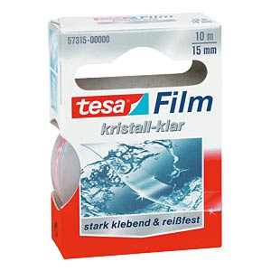 Crystal-clear tesafilm®, 10 m x 15 mm, 1 roll TESA 57315-00000-01
