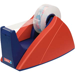 TESA professional desk dispenser, red/blue, up to 33 m x19 mm TESA 57421-00000-01