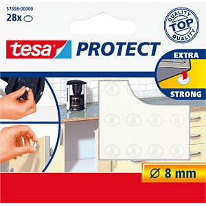 TESA noise stopper, transparent, 28 pieces TESA 57898-00000-00