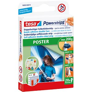 tesa® Powerstrips® Poster, 20 Strips TESA 58003-00079-04