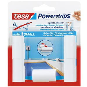 tesa® Powerstrips® cable clip, 5 pieces TESA 58035-00016-01