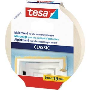 tesa® Classic masking tape, 50m x 19mm TESA 05281-00012-05