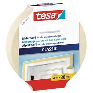 tesa® Classic masking tape, 50m x 30mm TESA 05282-00011-06