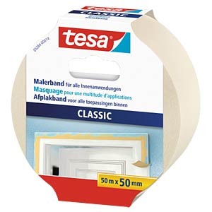 tesa® Malerband Classic, 50 m x 50 mm TESA 05284-00014-05