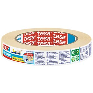tesa® BASIC masking tape, 50 m x 19 mm TESA 05286-00000-02