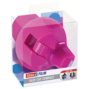 TESA desktop dispenser, pink, up to 33 m x19 mm TESA 53823-00000-00