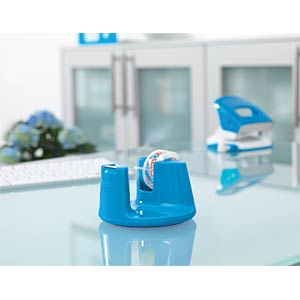 TESA desktop dispenser, blue, up to 33 m x19 mm TESA 53825-00000-00
