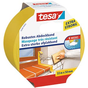 tesa® robust masking tape, 33 m x 50 mm TESA 55446-00003-01