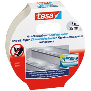 Anti Rutschband, 5 m x 25 mm, transparent TESA 55587-00000-11