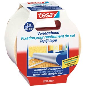 TESA laying tape, removable, 5 m x 50 mm TESA 55729-00017-00