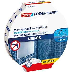 tesa Powerbond® mirror, 5 m x 19 mm TESA 55733-00010-04