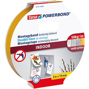 tesa Powerbond® Indoor, 5.0 m x 19 mm TESA 55741-00001-02