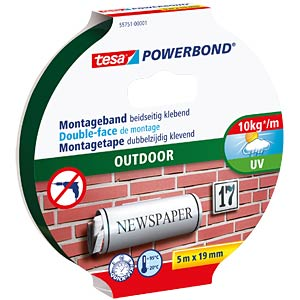tesa Powerbond® Outdoor, 5 m x 19 mm TESA 55751-00001-03