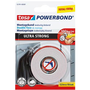 Montageband tesa Powerbond® Ultra Strong, 1,5 m x 19 mm TESA 55791-00001-00