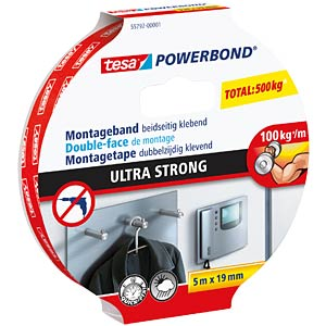Montageband tesa Powerbond® Ultra Strong, 5,0 m x 19 mm TESA 55792-00001-02