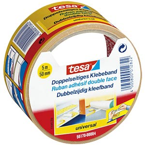 TESA double-sided adhesive tape, 5 m x 50 mm TESA 56170-00004-11