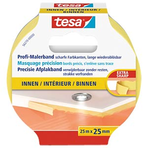 tesa® Pro INDOOR masking tape, 25m x 25mm TESA 56270-00000-00