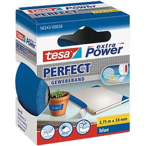 Gewebeband tesa extra Power® Perfect, 2,75 m x 38 mm, blau TESA 56343-00036-03