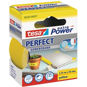 TESA extra Power cloth tape, 38 mm, yellow TESA 56343-00037-03