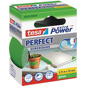 Gewebeband tesa extra Power® Perfect, 2,75 m x 38 mm, grün TESA 56343-00039-03
