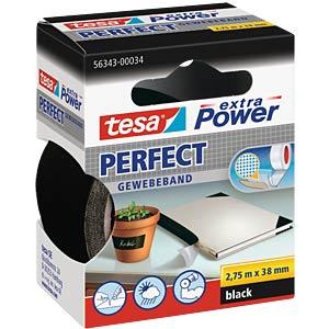 TESA extra Power Gewebeband, 38mm, schwarz TESA 56343-00034-03