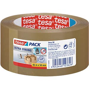 TESAPACK ultra strong, 66m x 50mm, bruin TESA 57177-00000-11