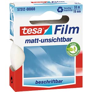 tesafilm® matt-unsichtbar, 33m x 19mm, 1 Rolle TESA 57312-00008-01