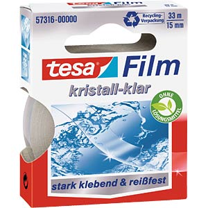 Crystal-clear tesafilm®, 33 m x 15 mm, 1 roll TESA 57316-00000-01