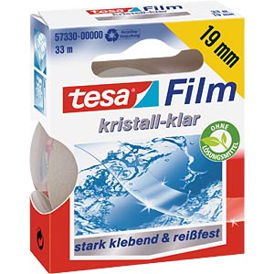 Crystal-clear tesafilm®, 33 m x 19 mm, 1 roll TESA 57330-00000-02