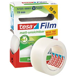 Matt invisible tesafilm®, 10 m x 19 mm, 1 roll TESA 57335-00001-00