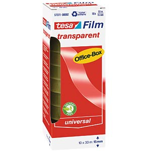 Transparent tesafilm®, 33 m x 15 mm, 10 rolls TESA 57371-00002-00