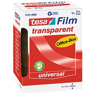 tesafilm® transparent, 66 m x 15 mm, 10 Rollen TESA 57372-00002-00