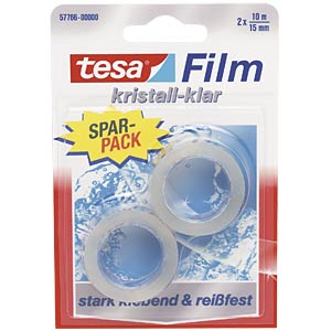 Crystal-clear tesafilm®, 10 m x 15 mm, 2 rolls TESA 57766-00000-00