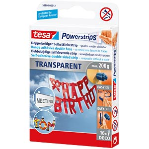 tesa Powerstrips® transparent Deco Strips TESA 58800-00012-03