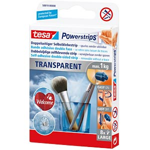 tesa Powerstrips® Transparent Strips Large TESA 58810-00000-00